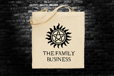 Supernatural Winchester inspired tote bag long handles fandom geek shopping