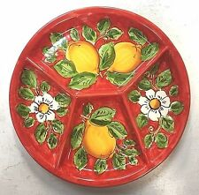 Vietri pottery-10 Inch antipasto Plate-Made/Painted by hand in Italy