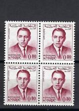 Morocco 1962 Sc# 84 King Hassan 80c block 4 MNH
