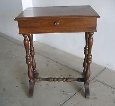 Tavolinetto tavolino piccolo tavolo comodino legno 1 cassetto antico epoca 900