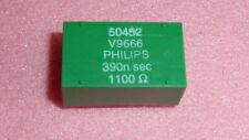 NEW 7PCS PHILIPS 312213850452 DELAY LINE 390n sec 1100OHM 3-PIN GREEN