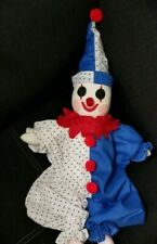 "Antique Hand Made Clown Doll 13"""