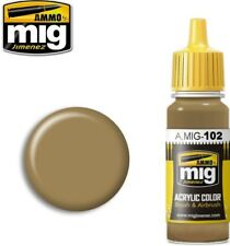 Ammo of Mig Jimenez Acrylic Color Brushes & Airbrush Ochre Brown 17ml #0102