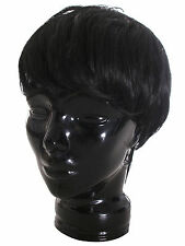 Men Black Handsome Short Straight Wig Hair Wigs Stylish Cosplay Party Full Wigs