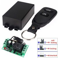 New DC12V 10A Relay 1CH Wireless Remote Control Switch Transmitter + Receiver AD