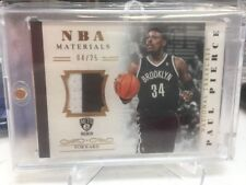 2013-14 Paul Pierce National Treasures NBA Materials Patch #/25 Nets