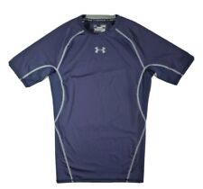 Under Armour mens athletic Compression blue heatgear t shirt Medium