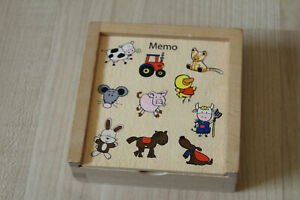 Memory Holz Kleinkinder Tiere 20 Teile