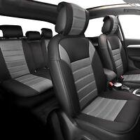 Comfy  Car Seat Cushion Pads Complete Set Gray Black