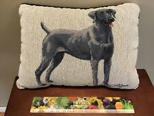 Weimaraner Dog Gray Throw Pillow Excellent Condition! 16� x 11� Smiling Pup