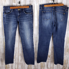 Cabi Women's Brando Jeans Blue Relaxed Fit Size 8