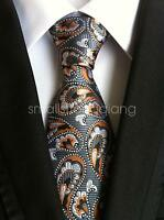 Mens Classic Silk Tie Necktie Paisley JACQUARD Neck Ties Best Man Wedding gift