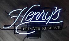 Henry Weinhard's Private Resreve Neon Beer Sign Bar Light