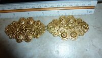Large raw brass stamping CENTERPIECE EMBELLISHMENT A401