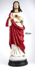 STATUE DU SACRE COEUR DE JESUS  60 CM  DE HAUT MATIERE RESINE