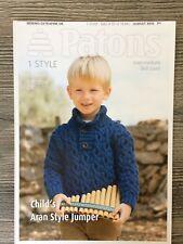 Patons Knitting Pattern: Children's Sweater, DK, 4-12yrs, 3970