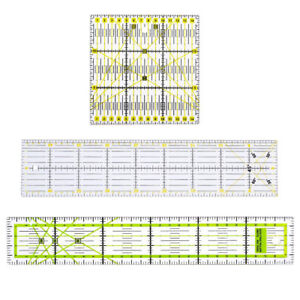 3pcs Acrylic Quilt Quilting Grid Ruler Patchwork Tailor Sewing Cutting Ruler