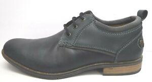 Steve Madden Size 9 Black Leather Oxfords New Men Shoes