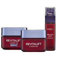 L'Oreal Paris Revitalift Laser X3 Day Cream + Night + Serum Re-Surfacing Set