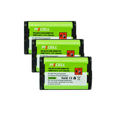 3 Pack Cordless Home Phone Rechargeable Battery for Panasonic HHR-P107 HHRP107