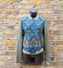 RALPH LAUREN Denim & Supply Women Long Sleeve Popper Green Novajo Aztec Jacket