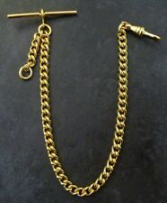 Rolled Gold Pocket Watch Albert Chain - New