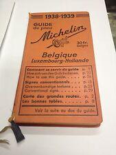 GUIA MICHELIN BELGICA 1938-39