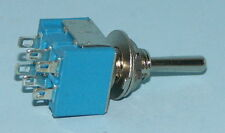 Pack of 3 Miniature DPDT Toggle Switch On-Off-On M203-3