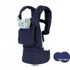 Cotton Front & Back Baby Newborn Carrier Infant Comfort Backpack Sling Wrap Blue