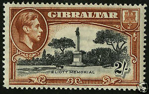Gibraltar   1938-49  Scott # 115a  Mint Lightly Hinged