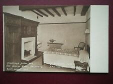 POSTCARD WILTSHIRE SAILSBURY - OLD GEORGE HOTEL - THE CLARENDON CHAMBER