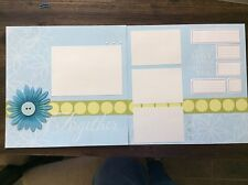 """Together What I Love When I'm With Embellished 2-page 12"""" X 12"""" Scrapbook Layout"""