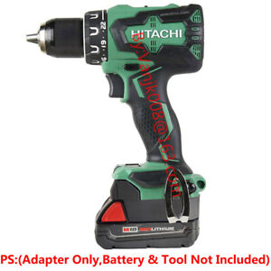 1x Milwaukee M18 RED Battery Convert To Hitachi 18V Li-Ion System Tools Adapter
