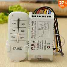 Wireless 4 channels 220v lamp Remote Control switch transmisor