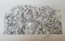 Alex Ross Signed Giclee of Sketch-Invincible-Original Avengers- Cap/Iron Man