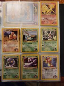 Pokemon Gym Challenge Near Complete Set cards 21 thru 132 all non holos