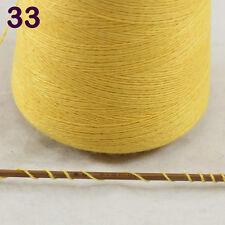 Sale Luxurious100g Mongolian Pure Cashmere Hand Knitting Cone Yarn 33 Corn Yello
