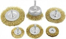 DEKTON 6mm Shank 6pc Rotary Wire Wheel Tool Drill Rust Weld De-carb Brush Set