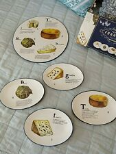 NIB $238 Williams-Sonoma Cheese Platter/4 Appetizer Plates Fromage Francais RARE