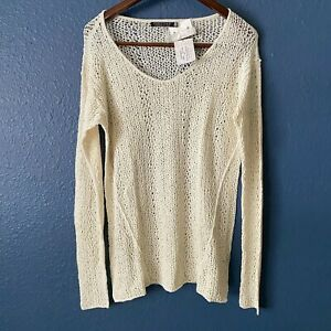NWT Peruvian Connection Belle Lace Open Knit Pullover Sweater Women's Size XL