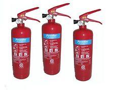 3 x 2KG DRY POWDER ABC FIRE EXTINGUISHER HOME OFFICE CAR VANS KITCHEN .CE