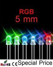 100 pezzi LED 5mm RGB AUTO ARCOBALENO LUMINOSITA 15000 MCD