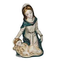 Vintage Italian Ceramic Madonna  Child Figurine Marked  Italy Religious Catholic