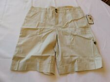 GH Bass & Company Bermuda Shorts Size 8 Misses women's New Cement NWT