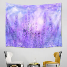 Spring Purple Flowers Lavender Butterfly Tapestry Wall Hanging Living Room Dorm
