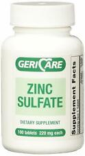 Gericare Zinc Sulfate 220mg Dietary Supplement, 100 Count