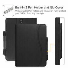 Samsung Galaxy Tab S3 Case S Pen Protective Holder Pocket Auto Sleep/Wake Black