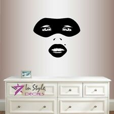 Vinyl Decal Sexy Girl Woman Face in Mask Party Carnival Room Beauty Salon 1490