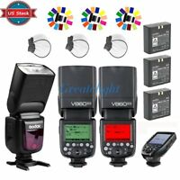US Godox V860II-N 2.4G TTL Flash Speedlight + Battery + XPRO-N Trigger for Nikon