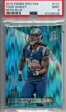 2015 Panini Spectra #121 Todd Gurley - Neon Blue - Rookie Card - 23/49 - PSA 9